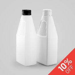 1 Litre Plastic Rectangular Bottle
