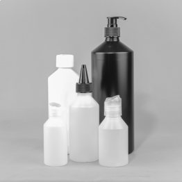 Swipe HDPE Plastic Bottle    (Natural, White or Black)