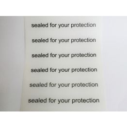 Sealed For Your Protection Stickers - Fits iNiTiAL Postal Container (300 PIECES)