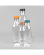 Round Plastic Juice and Smoothie Bottle PET