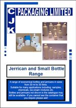 Small Bottle and Jerrycan Range